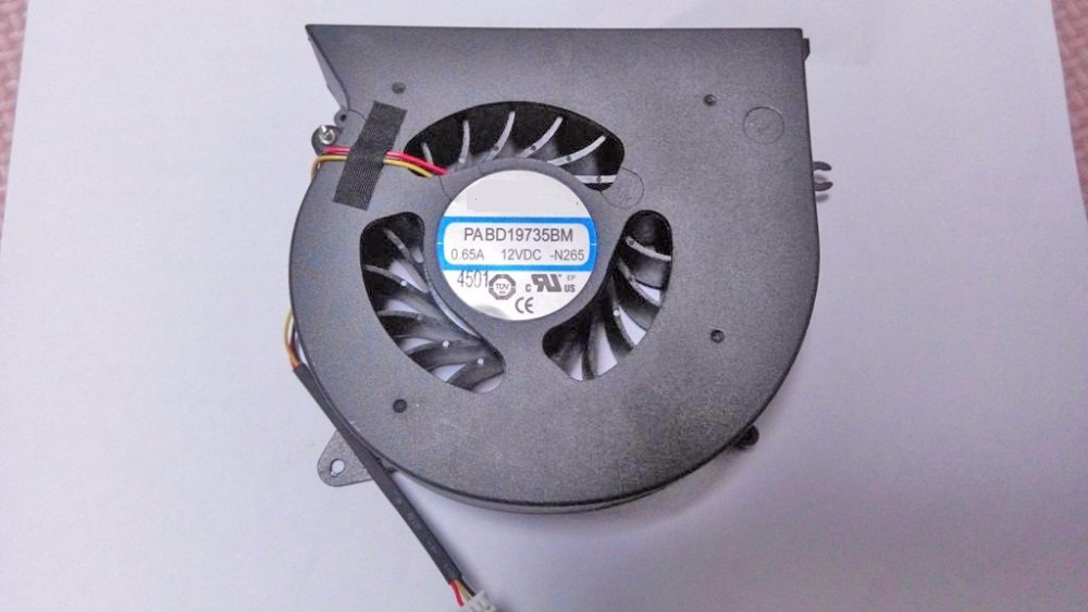 Laptop CPU Fan For MSI GT72 GT72S 6QD MS-1781 MS-1782 PABD19735BM N265 N292 N348 E330800523MC E330800182MC 12VDC 0.65A 5v 0 55a cpu computer notebook cooling fan 3 pins for msi ge70 ms 1756 ms 1757 laptop paad06015sl n285 new cooler fan for msi
