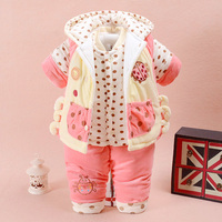 2017 New Arrival Baby Girl Clothes Fashion 3pcs Autumn Winter Baby Boy Clothing Sets Toddler Kids
