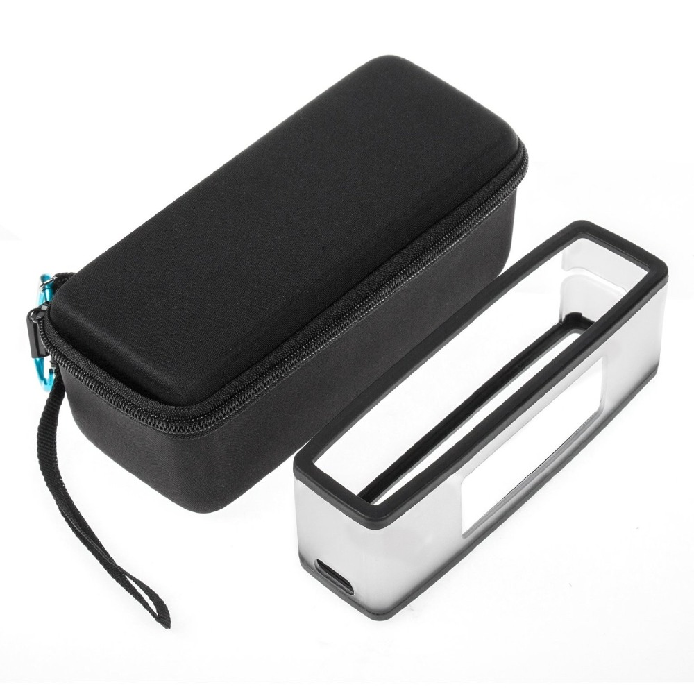imágenes para EVA Equipaje de Viaje Caja de Almacenamiento Cubierta de La Caja + de Silicona Suave Cubierta de la Caja TPU Para Bose Soundlink Mini/Mini 2 Altavoz Del Bluetooth sin hilos
