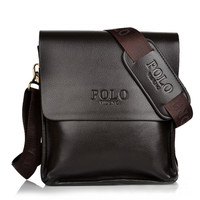 Brand Men S POLO Genuine Leather Shoulder Bags Solid Men Messenger Bag Casual Business Crossbody Vintage