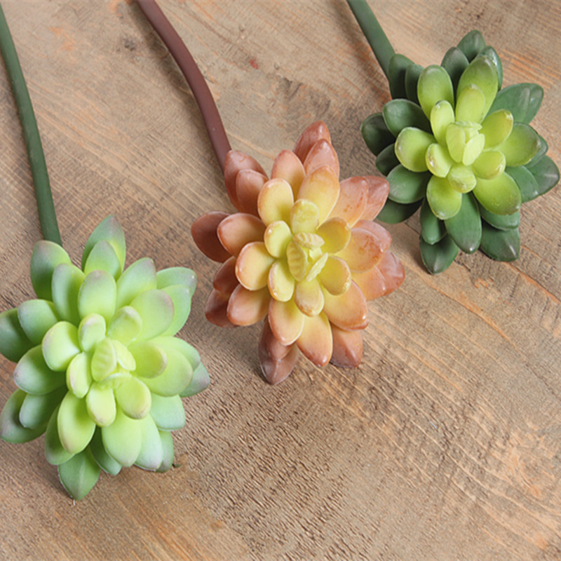 (10 pcs/lot) artificial succulents planta wholesale lotus flowers fake plastic artificial plants artificial flower factory