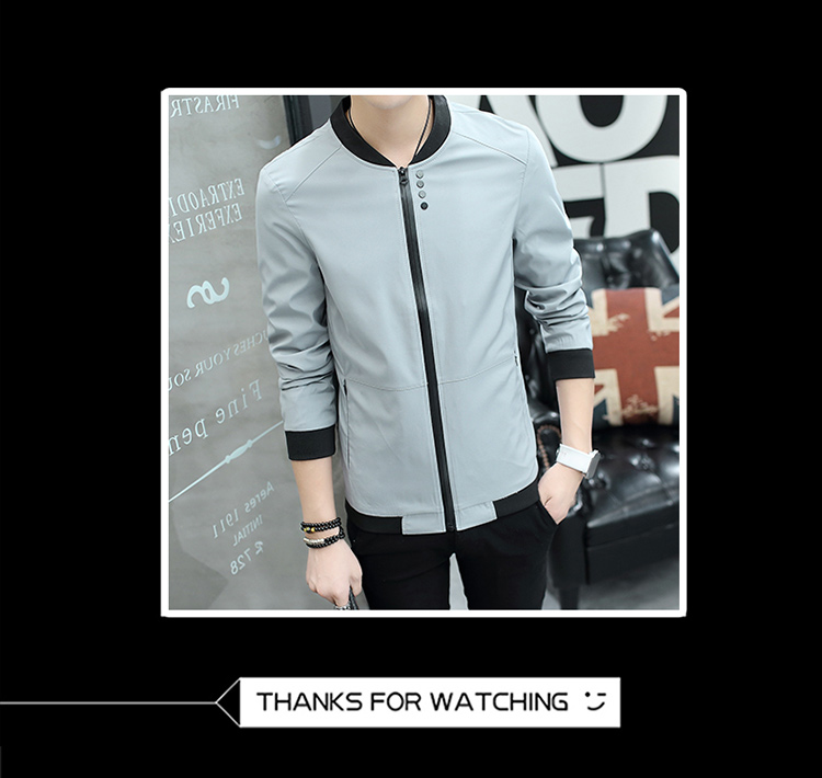 HTB1.NobkiMnBKNjSZFoq6zOSFXa9 Fall 2019 pure color collar jacket type teenagers cultivate one's morality Casual jacket
