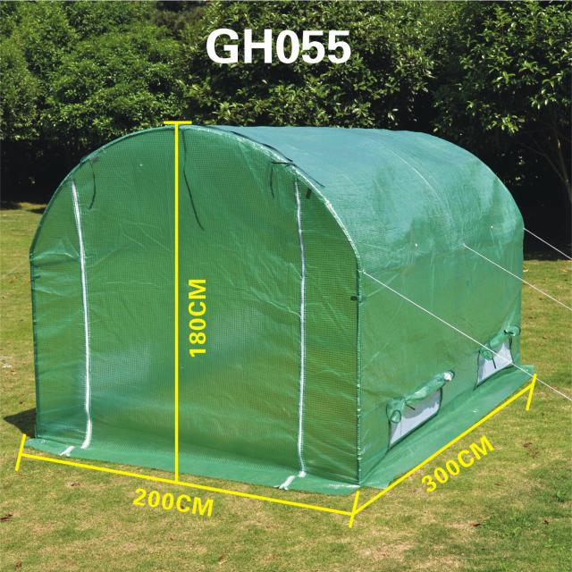 GH055 double door greenhouse full of iron arched canopy roof insulation greenhouses to grow vegetables balcony room esspero canopy