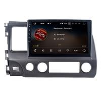 Octa Core Android 8.0 Car Radio Centrail Multimedia Player for Honda for Civic 2006 2011 Automotivo GPS Navigator Stereo