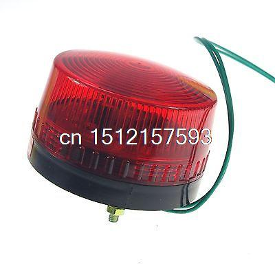 1PCS 12VDC RED LED Beacon Warning Signal Light Lamp Spiral Fixed