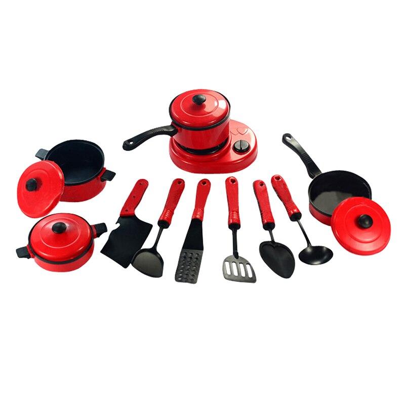 Lustige Küche Spielzeug Für Kinder Küche Ware Kochen Werkzeuge Sets 11  Stücke Pretend Spielen Spielzeug Herd Pan Sichere Gas Ofen TY