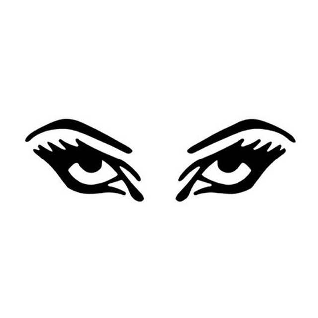 185 5cm sexy eye lashes car sticker motorcycle fun personalized car stickers and decals