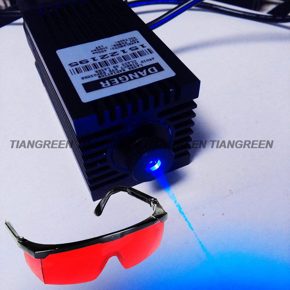 Focusable 2W 445nm Blue Laser Diode Module with Inner Driver Free Goggles Engraver Machine