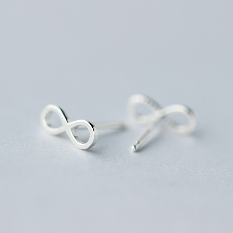 925 Sterling Silver Infinity Ear Studs Silver Infinity Posts Infinity earrings