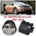 Para NISSAN Murano Z51 Fechado Off-Road Vehicle 2007-2014 Branco Luzes de Nevoeiro Lâmpadas 6000 K 2 PCS