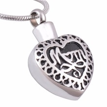 Personalized Cremation Jewelry Mom In Heart Memorial Pendant Ashes Urn Locket Necklace Not Turn Off Name Engraved
