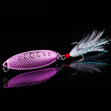2017 New 5pcs/lot  Spinner Spoon Lures 7g 10g 15g Artificial Spoon Bait Bass Lure Metal sequin Bait