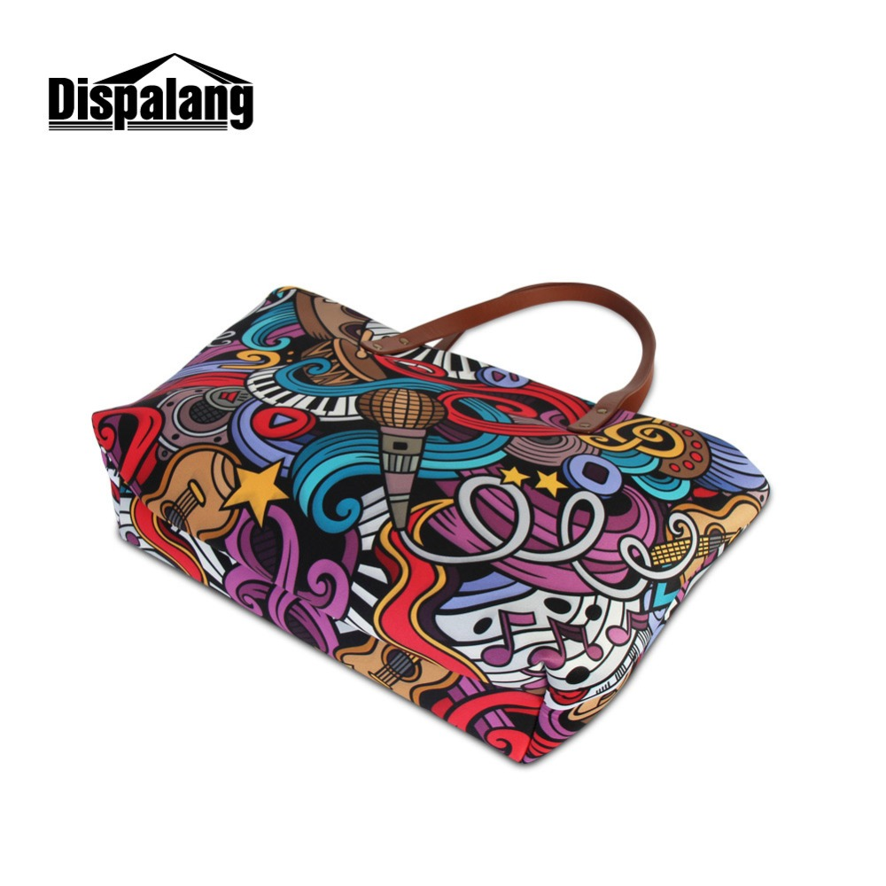 d23c0e7273b8 Dispalang Zipper Shoulder Handbag for Women Printed Tote Bags Fancy Beach  Bag Wholesale Guangzhou Waterproof Top Handle Tote -in Top-Handle Bags from  ...