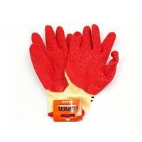 1 쌍 실용적인 나일론 라텍스 장갑 노동 빨간 장갑 안티 커팅 및 antiskid 직장 안전 손 보호 컷-내성