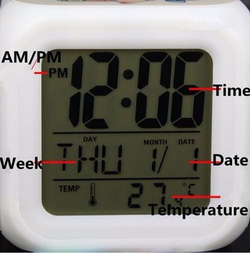 Dragon Ball Z LED 7 Color Flash Changing Alarm Clock