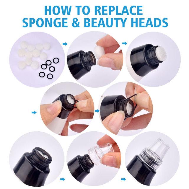 Removal Blackhead Face Clean Pore Vacuum Acne Pimple Vacuum Remover Suction Facial Diamond Dermabrasion Tool Machine Skin Care