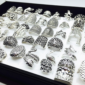 Image 2 - الجملة مجموعة 50 قطعة أنماط مزيج المرأة ريترو مجوهرات خواتم brand new