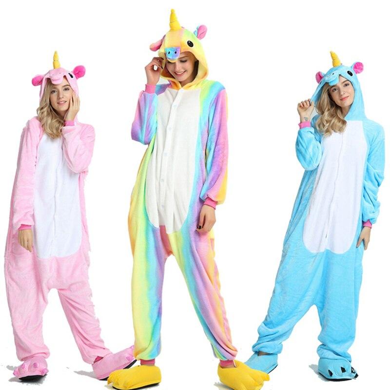 Для взрослых кигуруми комбинезон для мужчин и женщин единорог пижамы мягкие Необычные аниме Unicornio Pijima комбинезон животных ночное белье on Aliexpress.com | Alibaba Group