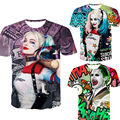 Comando suicida de los hombres t shirt 3d Harley Quinn joker deadshot masculina Rick Flag mens camisas Boomerang comando Suicida