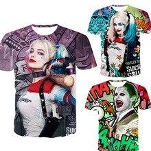 Suicide squad men 3d t shirt Harley Quinn joker deadshot male Rick Flag mens shirts Boomerang Suicide squad