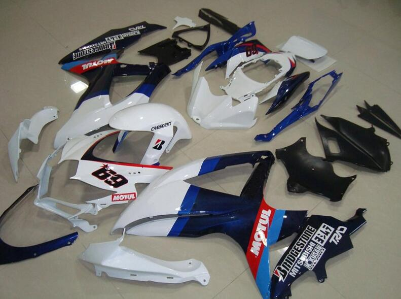 3Gifts New ABS Fairings Kit 100% Fit For SUZUKI GSXR600 GSXR750 08 09 10 R600 R750 <font><b>K8</b></font> <font><b>GSXR</b></font> <font><b>600</b></font> 750 <font><b>2008</b></font> 2009 2010 Nice 69 image