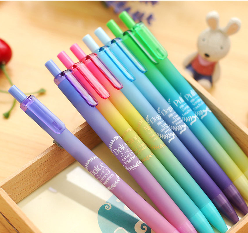 4Pcs Korean Creative Dolce Dream Color Sky Star Series Galaxy Gel Ink Pen Cute Kawai Stationery Store School bts Thing Material