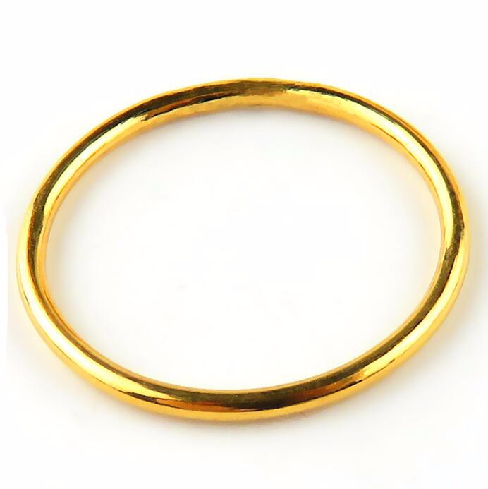 Aliexpress Buy Fashion Authentic 24K Yellow Gold Ring