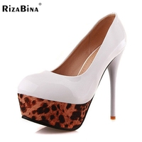 Women Thin Heels Shoes Fashion Leopard Platform Pumps Ladies Heeled Brand Party Shoes Woman Heeled Footwear