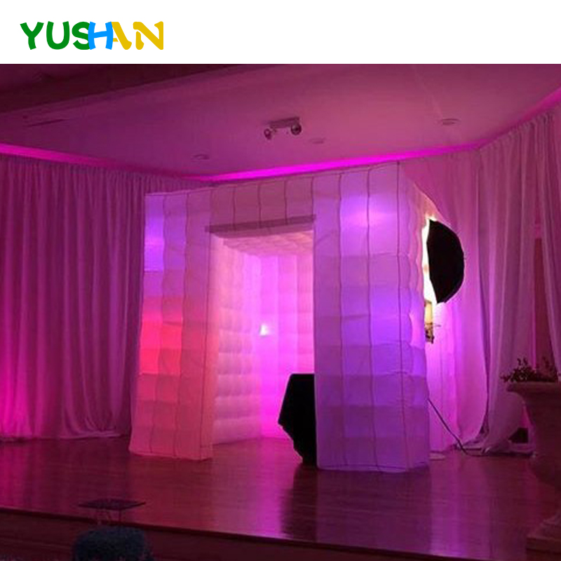 Popular cube inflatable photo booth party portable photo