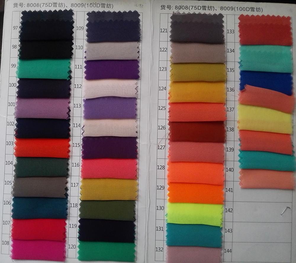 100D chiffon color 3