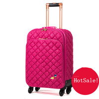Fashion lace travel bag female universal wheels trolley luggage bag suitcase luggage gossip,euro faashion style 16inch luggage