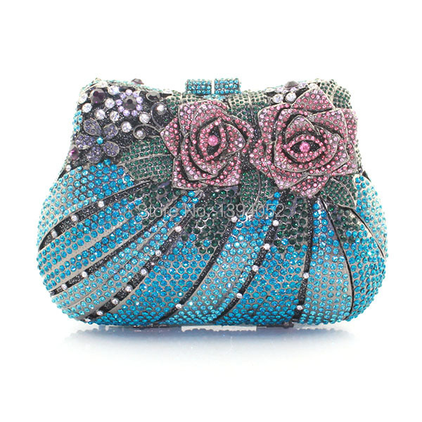 Beautiful Ladies Crystal Handmade Clutch Bag-in Evening Bags from ... f0d19896c426c