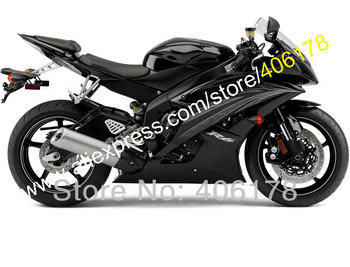 For YZFR6 R6 black ZF600 YZF 600 R6 2008 2009 2012 2013 2014 2015 2016 Motorcycle Fairing Kit (Injection molding)