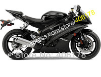 Hot Sales,For Yamaha YZFR6 R6 black ZF600 YZF R6 2008 2009 2012 2013 2014 2015 2016 Motorcycle Fairing Kit (Injection molding)