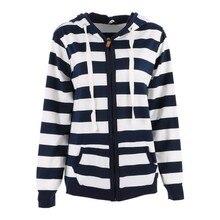 Casual Women's Sweatshirt Hooded Coat Zip Pullover Hoodies Outerwear