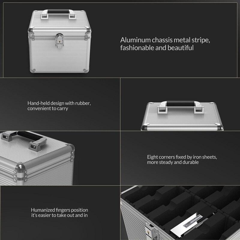 ORICO aluminium 5 & 10 baies 3.5 pouces disque dur Protection boîtier de rangement avec verrouillage (hors HDD)-argent - 4