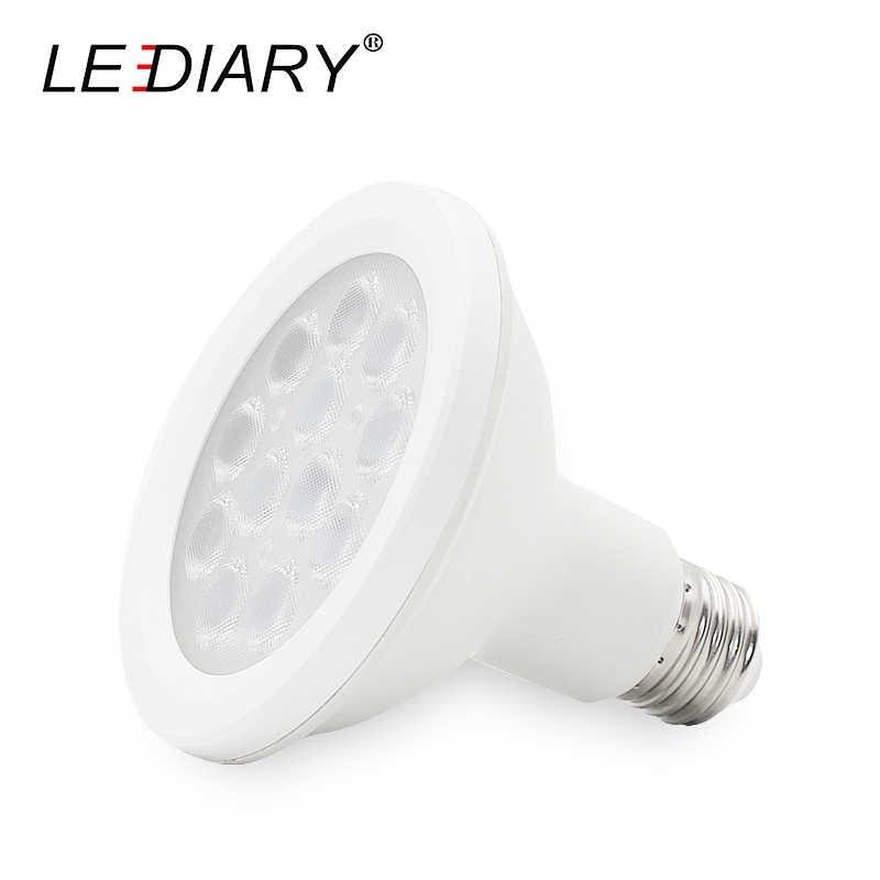 Светодиодный IARY пустой E27 к трековой лампе, 100-240 V светодиодный Par30 12 Вт Пластик черный, белый цвет кузова 3000 K 4000 K 6000 K 2 провода видео-телефон двери внутреннее коммерческое освещение