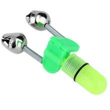 1 шт. удочка для ночной рыбалки наконечник красный светильник двойные колокольчики кольцо рыба приманка сигнализация