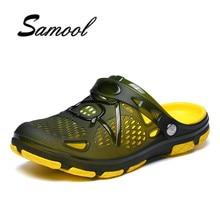 Hot menjual Baru 2018 Musim Panas Pria Sandal Mode Melubangi Bernapas Pantai Sandal Sandal Jepit Sandal jepit laki-laki size41-45 lx5