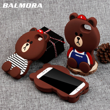 c71f5d66685 Funda de teléfono BALMORA Cute Bear para iPhone 6 6 s 7 8 Plus fundas de ·  2 colores disponibles