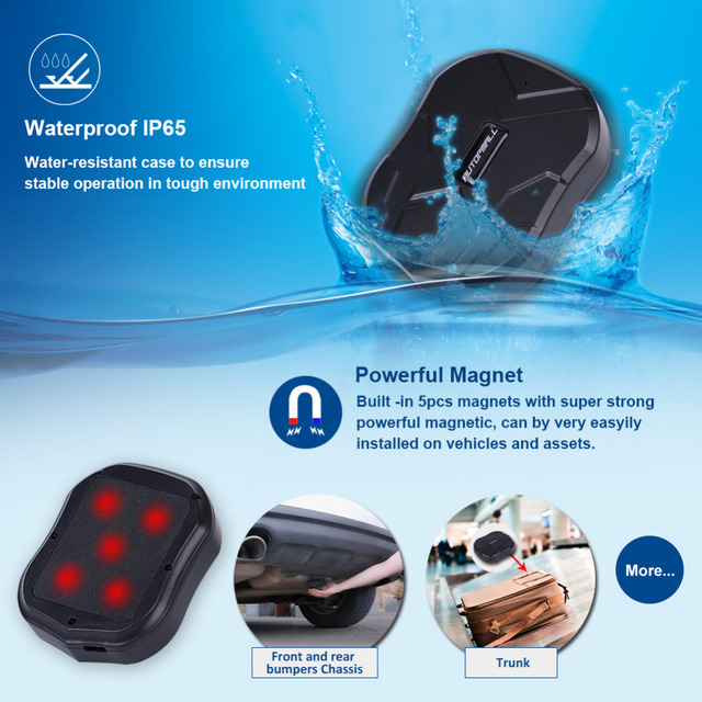 GPS Vehicle GPS Locator TK905 Waterproof Magnet 1