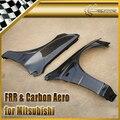 Car-styling For Mitsubishi Evolution EVO 8 9 Carbon Fiber Front Wider Single Vented Fender +10mm