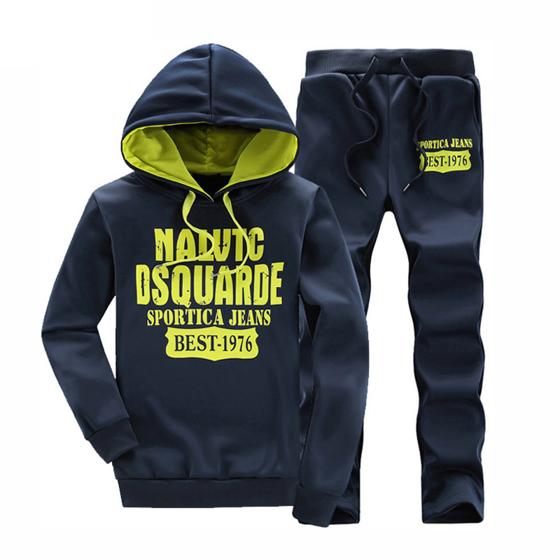 Mens Clothing Fashion Print casual Sportswear Tracksuit Set Sweat men Men Hoodies Sweatshirts Sportsuit Active Tracksuits