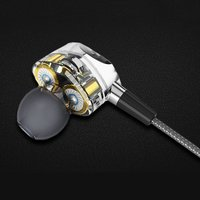 8PCS In ear HiFi Earphones Dual Dynamic Driver 4D Stereo Surround Noise Canceling Professional HIFI Earbuds With Mic