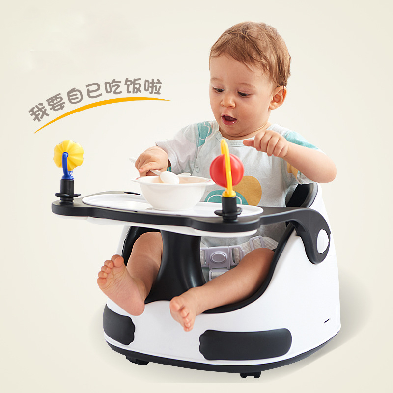 Baby Dining Chair Collapsible Portable Multi-function Learning Sitting Multiple Gears Adjustable Table Chair Infant Chair
