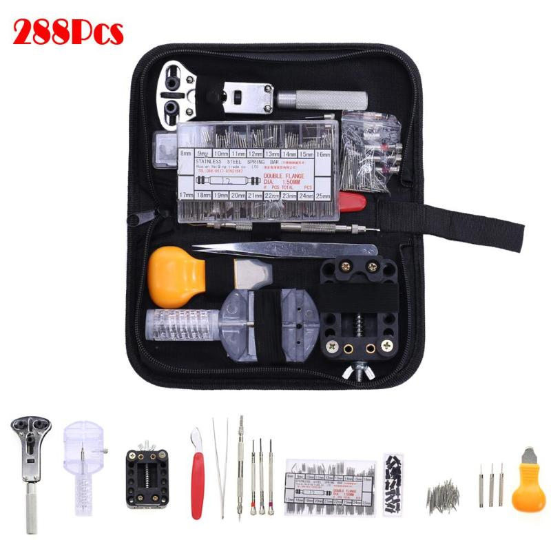 288 Pcs Watchmaker Watch Repair Tool Kit Back Case Opener Remover Spring Bar Band Pin Hand Remover Reparatie Gereedschap Tool все цены
