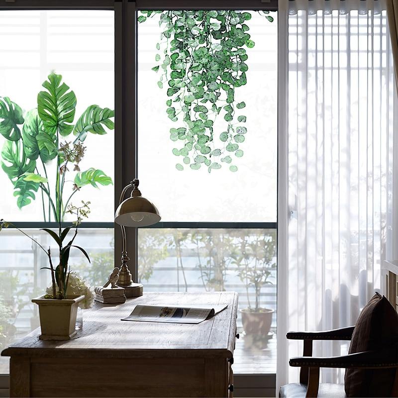 203*63 cm 203*130 cm Film de fenêtre décoratif givré Film auto-adhésif teinté intimité statique pour autocollants en verre pour cuisine