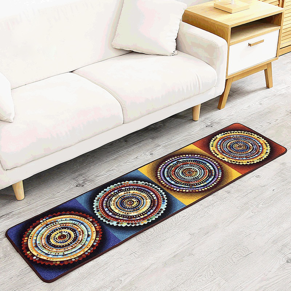 Fashion National Style Geometric Abstraction Rug Runner Kitchen Non Slip Living Room Bedroom Sofa Carpet