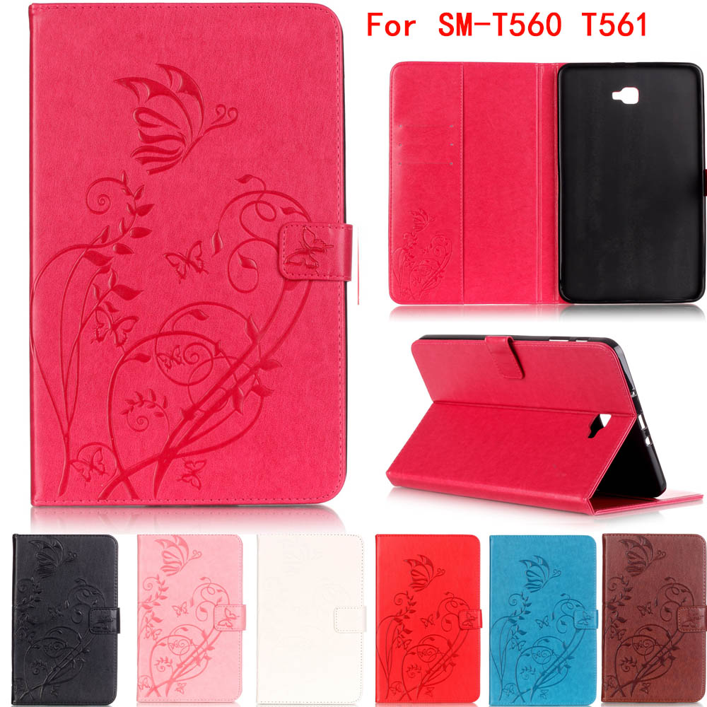 Fashion high quality Flip classic PU Leather Stand Cover CaseFor Samsung Galaxy Tab E 9.6 T560 SM-T561 Cases Tablet Accessories