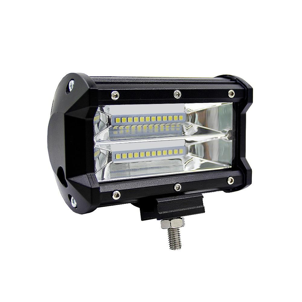5inch 72W Car LED Light Bar Spot Beam Work Light Driving Fog Light Road Lighting for Jeep Car Truck SUV Boat Marine